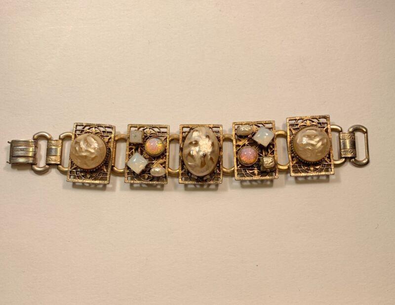 Vintage Gold Tone Cocktail Bracelet