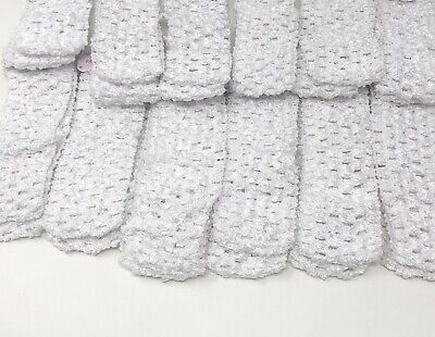 Wholesale Girls Baby Crochet Headband With 1.5 inch Acrylic White color (Crochet Girls Headband)