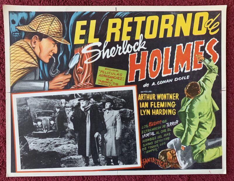THE TRIUMPH OF SHERLOCK HOLMES Arthur Wontner LOBBY CARD Mexican 1935