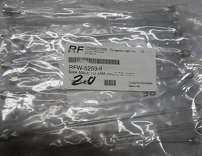 Rf Industries Rfw 5259 8  Sma Jumpers  Never Installed   Lot Of 20