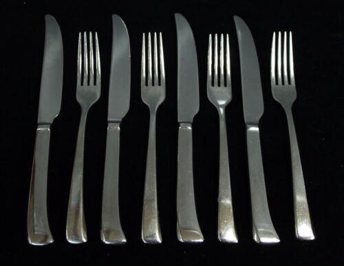 Salvaged Waldorf 8 Piece Dinner Fork & Knife Set