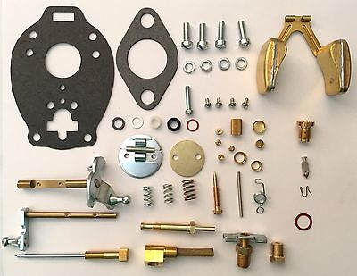 Ford 9N 2N 8N TSX Major Tractor Carburetor Repair Kit with Float & Instructions