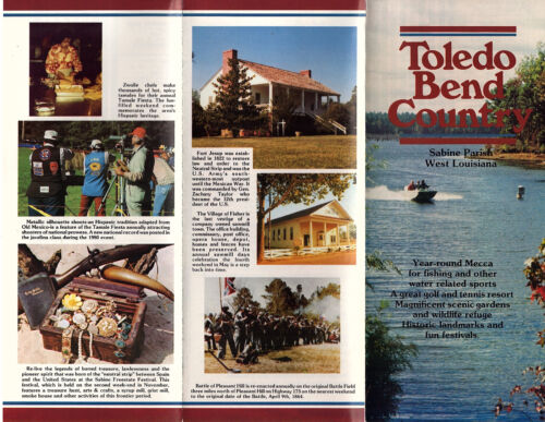 Sabine Parish Louisiana Promotional Brochure Color Photos Map Keyed to Marinas