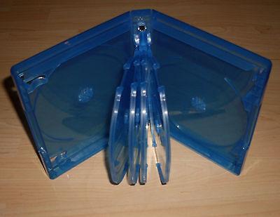 Blu Ray Hülle zehnfach 10fach 10-fach blau Blu-Rays Blue Ray 10er 25mm 2,5cm Neu