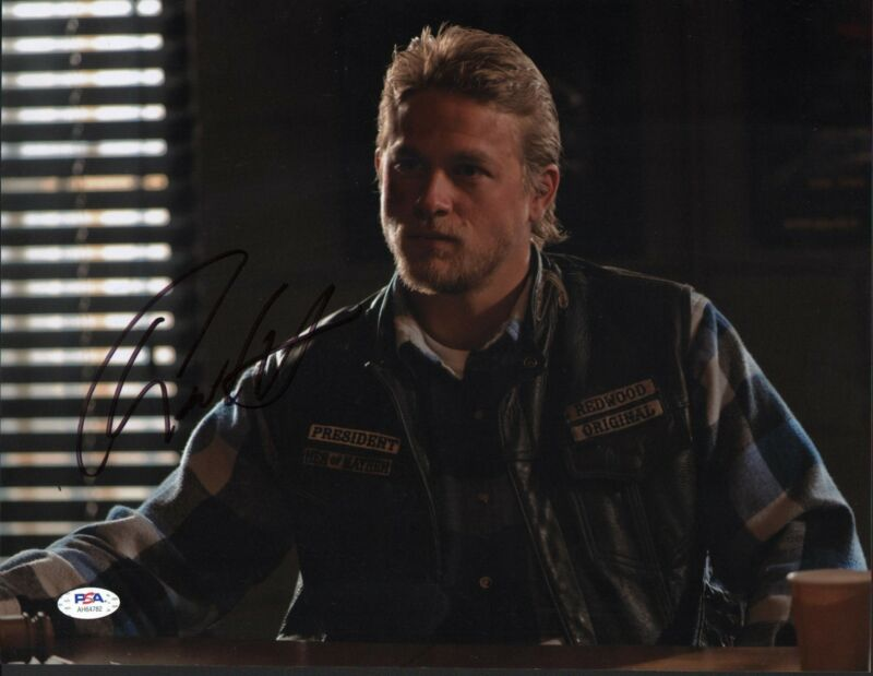 Charlie Hunnam Signed 11x14 Photo Sons Of Anarchy Jax PSA DNA