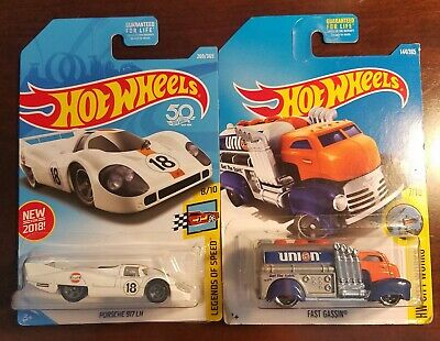 Hot Wheels  Lot of 2, Fast Gassin Union, Porsche 917 LH - FREE SHIPPING L46