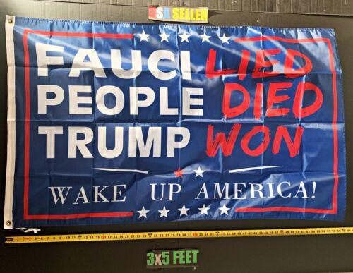 Donald Trump Flag FREE FIRST CLASS SHIP! 2024 Trump Won Save America B Sign 3x5