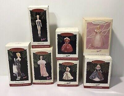 Barbie Hallmark Keepsake Christmas Ornaments Lot of 7