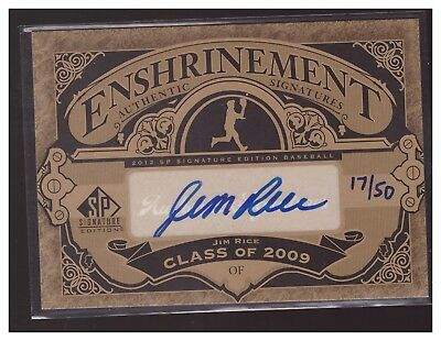 JIM RICE AUTO 2012 SP SIGNATURE EDITION HAND NUMBERED 17/50! RED SOX HOF LOOK@!