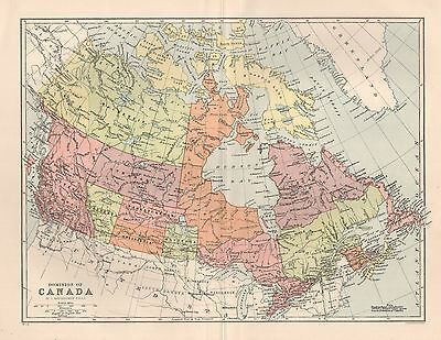 1900 Ca ANTIQUE MAP DOMINION OF CANADA