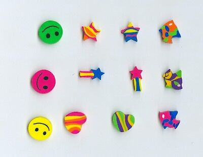 Twelve Mini FUN Shaped erasers S1! Great party or prize idea!](Fun Party Ideas)