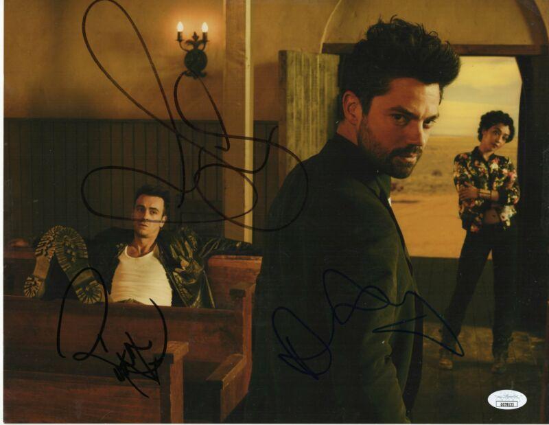 Preacher Autograph 11x14 Photo Dominic Cooper, Ruth Negga and Joseph Gilgun JSA