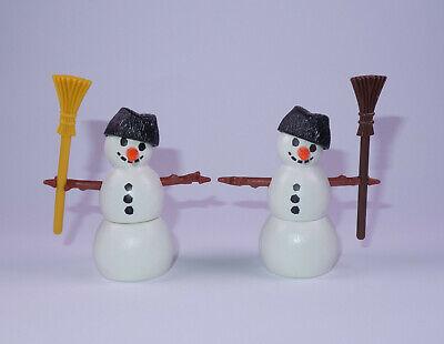Playmobil - Weihnachten - 2 x Schneemann mit Hut + Besen - Figur - TOP !!! - #3 (Weihnachts Top Hut)