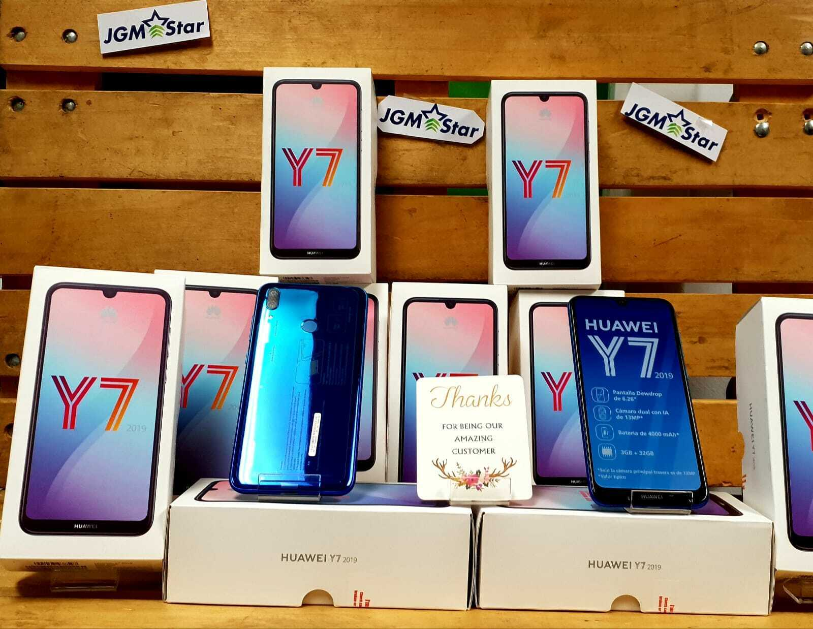 HUAWEI Y7 2019 BLUE 32 GB FACTORY UNLOCKED 6.26 INCH LCD NEW