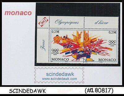 MONACO - 2002 WINTER OLYMPIC GAMES SALT LAKE CITY SE-TENANTX2 MNH Monaco Salt