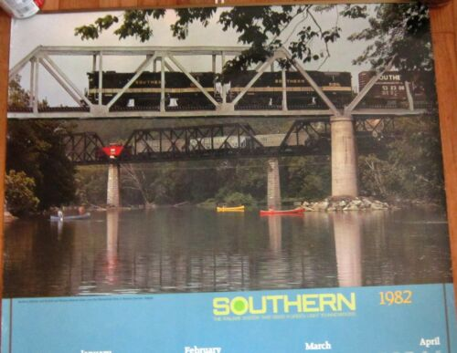 Southern Railway Railroad Train Crossing Shenandoah River VA 1982 Wall Calendar