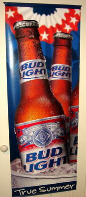 Budweiser Large Vinyl Banner Double Sided 5 feet tall by 22 inches wide