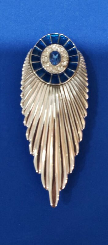 "ERTE ""PLUME"" ART DECO BROOCH, STERLING/SIGNED/LIMITED EDITION/NUMBERED 3 3/8"""