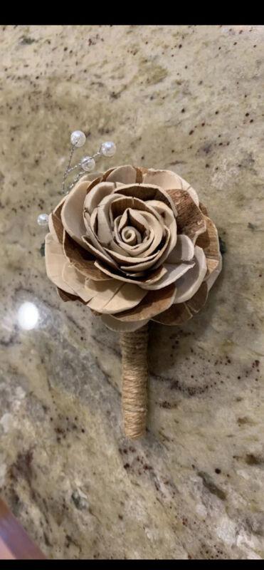 Cork Rose Flower Boutineer