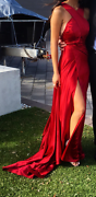 SHINY, FLOWY, CLASSY RED BALL GOWN! CUSTOM MADE!! Perth Perth City Area Preview