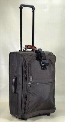 "Used Tumi USA Classic Rare Brown Ballistic Nylon 22"" Upright Carry On Suitcase"