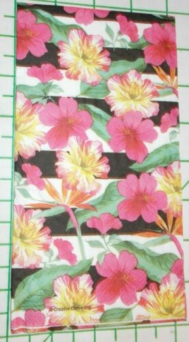 """Two Decorative Hostess Napkins for Decoupage """"Hibiscus"""" 2-Ply"""