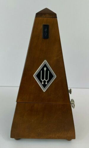 Wittner wind up metronome - wood case walnut finish - w/ bell - Germany