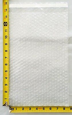 25 8x14 Clear Protective Bubble-Out Pouches//Bubble Bags Straight Cut//Open-End