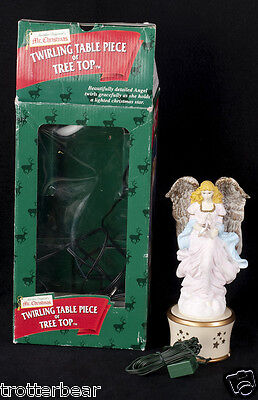 Mr Christmas Twirling Angel Tree Topper Table Top Lighted Display See Video