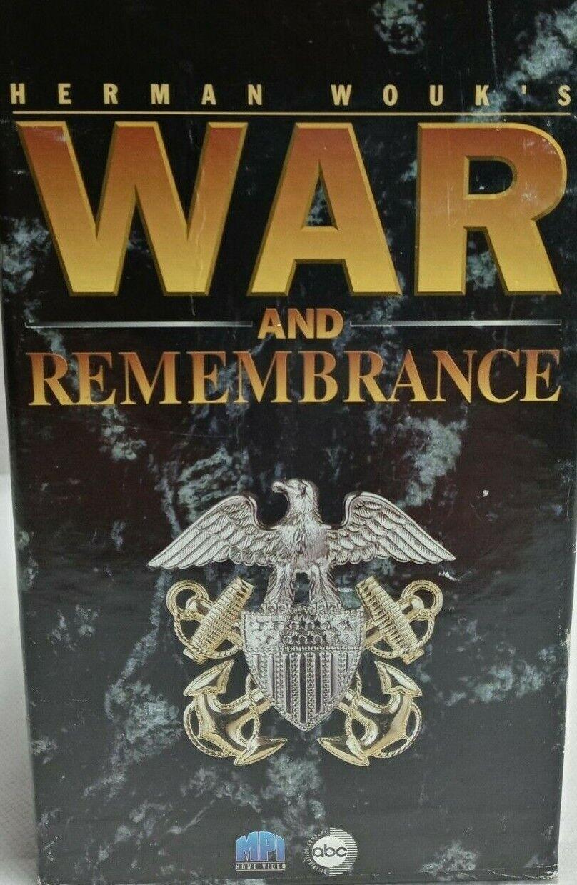 War And Remembrance Vhs Box Set 1-7 Movie Mini Series Vintage 1997 WW2 - $34.99