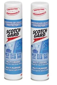 2 x 3M Scotchguard Multi Purpose Protector Spray 400ml Furniture Clothing Fabric