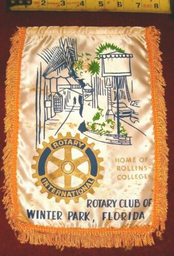 VINTAGE Rotary International Club wall banner     WINTER PARK   FLORIDA