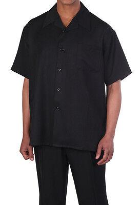 Men's 2pc Walking Suit Short Sleeve Shirt w/ Pants Set #2954 (Suit Short Sleeves)