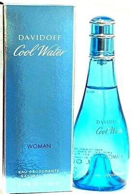 Cool Water Davidoff / Cool Water Women's 3.4oz Perfume Deodorant Spray. Davidoff Cool Water Perfume