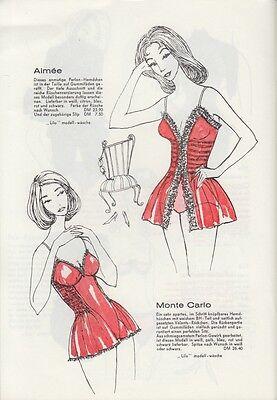 Lilo Modell-Wäsche - Katalog 50er Jahre