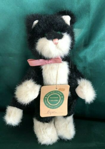 """BOYDS COLLECTION PLUSH CAT - BYRON - 8"""""""