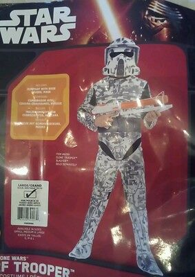 NWT Star Wars The Clone Wars Imperial  Storm Trooper Costume  mask large 12-14