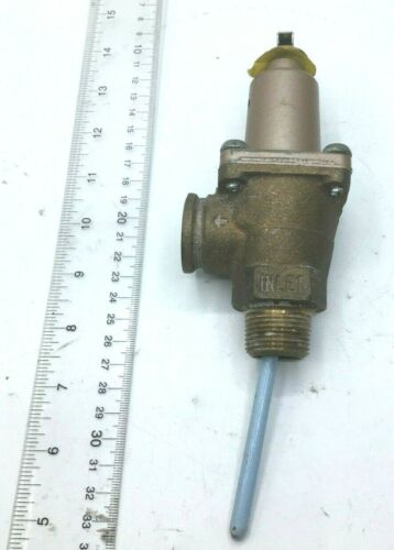 "Watts Temperature & Pressure Relief Valve M12, 40L Cat 3, 1/4"" New Free Shipping"