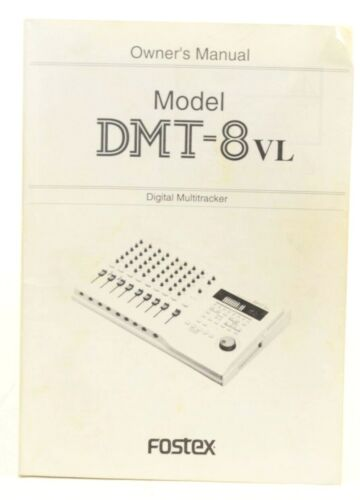 Fostex DMT-8VL Digital Multitracker With user Manual