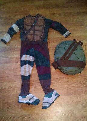 TMNT Teenage Mutant Ninja Turtles Halloween Costume & Shell small boys S 4-6 Kid - Halloween Costume Ninja Turtle Shell
