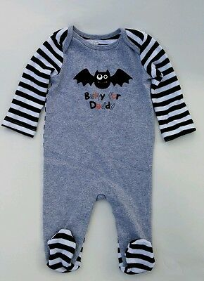 Koala Halloween Costume Baby (Baby Boy Koala Kids 0-3M Bat Daddy Footed Sleeper Clothes Halloween Costume)