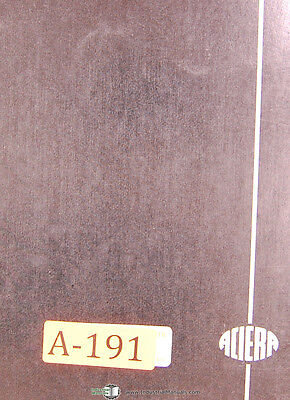 Aciera Type F2 Universal Milling Machine Instructions Manual
