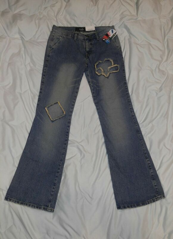 Luella Boot Cut Jeans, Size 9 Patch Work Hearts NWT