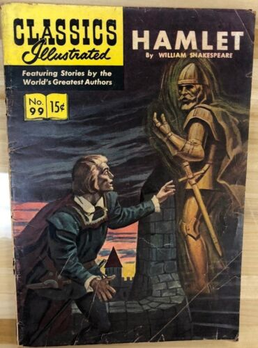 CLASSICS ILLUSTRATED #99 Hamlet by William Shakespeare (HRN 121) VG+