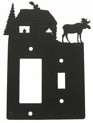 Moose/Lodge Single Light Switch-Rocker GFCI Plate Cover Moose Single Switchplate