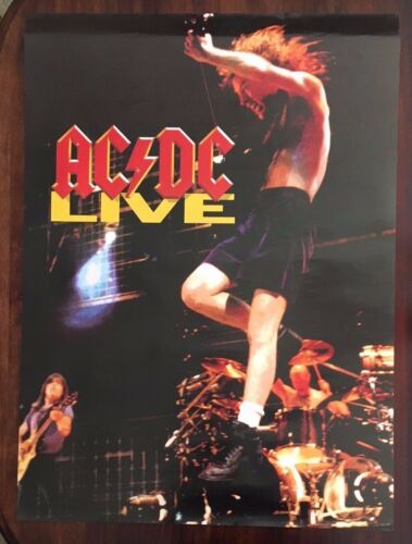 AC/DC  Live  rare original promotional poster from 1992