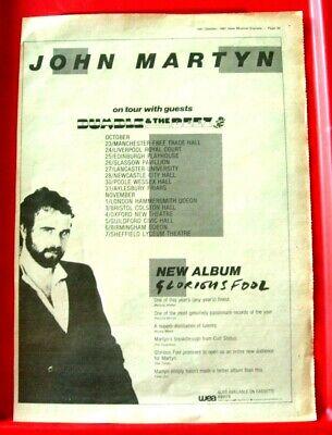 John Martyn Glorious Fool/UK Tour Vintage ORIG 1981 Press/Mag ADVERT Poster-Size