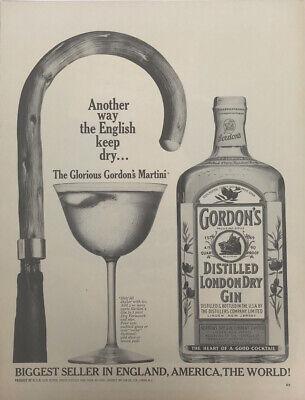 Gordon Gin Magazine Print Ad Vintage 1965 Drink Liquor Alcohol Cocktail Original