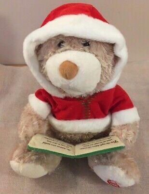 Cuddle Barn TWAS THE NIGHT BEFORE CHRISTMAS animated story telling plush BEAR  ()