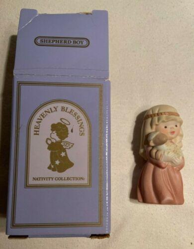 1987 Avon Heavenly Blessings Nativity Shepherd Boy Christmas in box